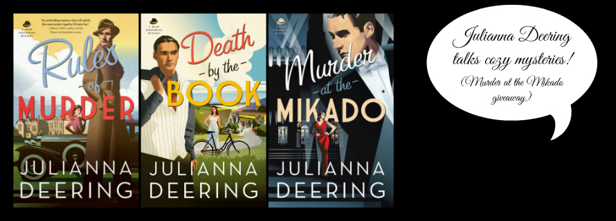 Julianna Deering: Inside Murder Mystery Writing & Giveaway